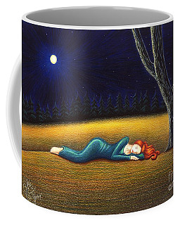 Coffee Mug featuring the drawing Rest For A Weary Heart by Danielle R T Haney