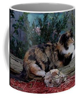Resting Calico Cat Coffee Mug