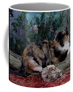 Resting Calico Cat Coffee Mug