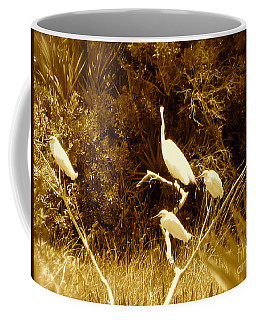 Resting Flock Sepia Coffee Mug