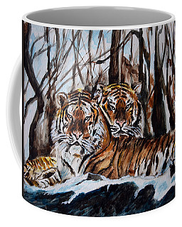 Coffee Mug featuring the painting Resting by Harsh Malik