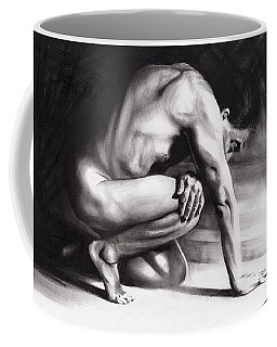 Coffee Mug featuring the drawing Resting Il by Paul Davenport