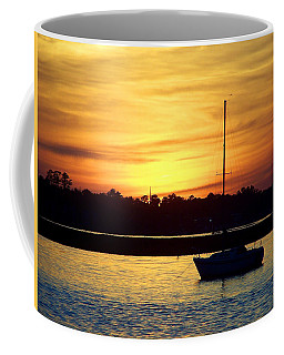 Coffee Mug featuring the photograph Resting In A Mango Sunset by Sandi OReilly