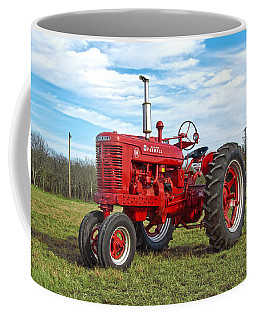 Restored Farmall Tractor Coffee Mug by Charles Beeler