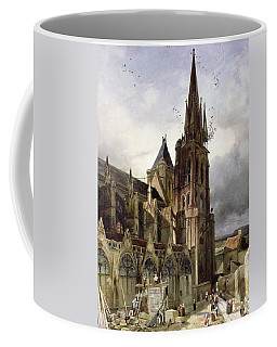 Restoring The Abbey Church Of St. Denis In 1833 Oil On Canvas Coffee Mug