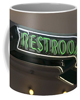 Restrooms In Neon Coffee Mug