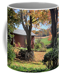 Coffee Mug featuring the photograph Retired Wagon by Gordon Elwell