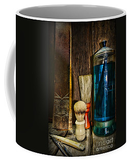 Retro Barber Tools Coffee Mug by Paul Ward