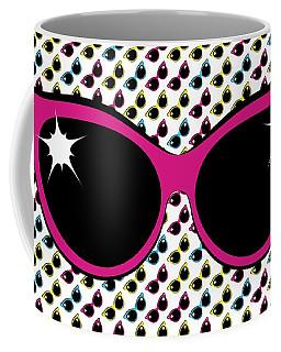 Retro Pink Cat Sunglasses Coffee Mug