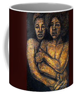 Coffee Mug featuring the drawing Revelations by Gabrielle Wilson-Sealy