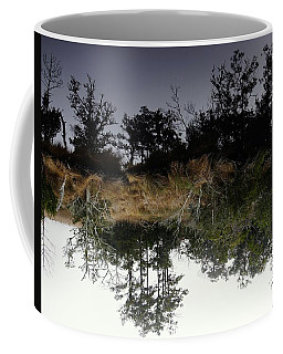 Reverse Reflection On A Crab Fishermans Canal Coffee Mug by Richard Rosenshein