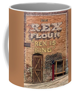 Coffee Mug featuring the painting Rex Is King by Michael Pickett