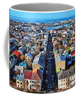 Reykjavik Cityscape Panorama Coffee Mug