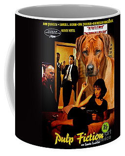 Rhodesian Ridgeback Art Canvas Print - Pulp Fiction Movie Poster Coffee Mug