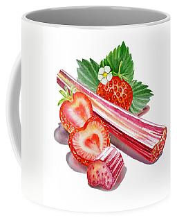 Coffee Mug featuring the painting Rhubarb Strawberry by Irina Sztukowski