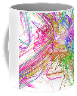 Ribbons And Curls White - Abstract - Fractal Coffee Mug