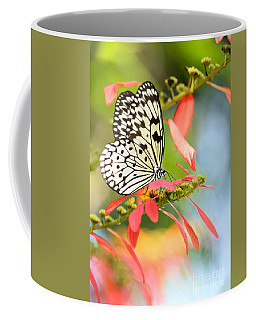 Rice Paper Butterfly In The Garden Coffee Mug