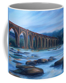 Richmond Train Trestle Coffee Mug by Donna Tuten