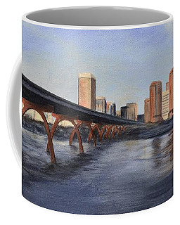 Coffee Mug featuring the painting Richmond Virginia Skyline by Donna Tuten
