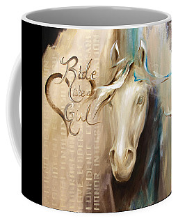 Coffee Mug featuring the painting Ride Like A Girl by Dina Dargo