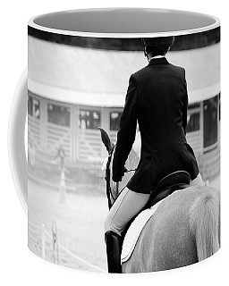 Rider In Black And White Coffee Mug