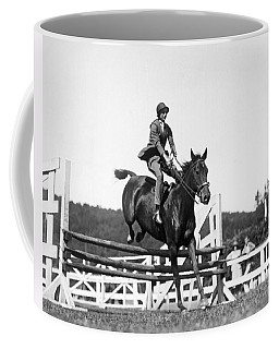 Rider Jumps At Horse Show Coffee Mug