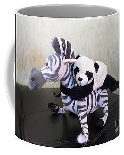 Coffee Mug featuring the photograph Riding A Zebra.traveling Pandas Series by Ausra Huntington nee Paulauskaite