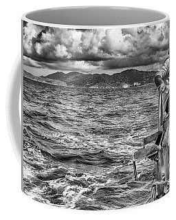 Coffee Mug featuring the photograph Riding The Crest Of The Wave by Howard Salmon