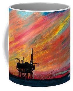 Rig At Sunset Coffee Mug