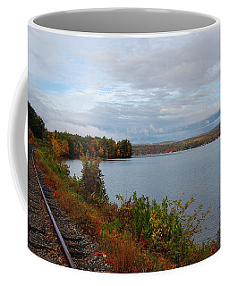 Coffee Mug featuring the photograph Right Side Of The Track by Mim White