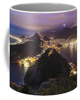 Rio Evening Cityscape Panorama Coffee Mug by Mike Reid