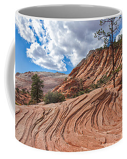 Coffee Mug featuring the photograph Rippled Rock At Zion National Park by John M Bailey