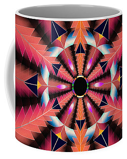Coffee Mug featuring the drawing Rippled Source Of Light by Derek Gedney