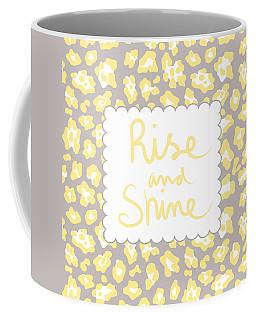 Rise And Shine- Yellow And Grey Coffee Mug