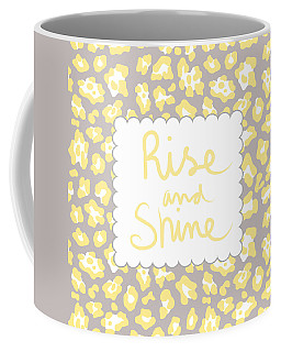 Rise And Shine- Yellow And Grey Coffee Mug