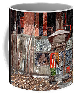 Coffee Mug featuring the painting River Antoine Rum Distillery by Laura Forde