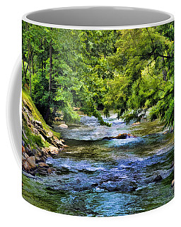 Coffee Mug featuring the photograph River At Dillsboro by Kenny Francis