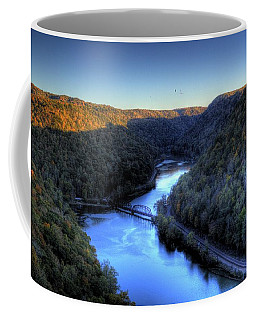 Coffee Mug featuring the photograph River Cut Through The Valley by Jonny D