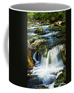 River Flowing Through Woods Coffee Mug