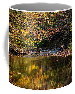 Coffee Mug featuring the photograph River In Autumn by Lisa L Silva