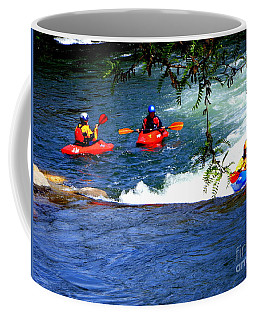 Coffee Mug featuring the photograph River Kayaking II by Bobbee Rickard