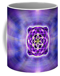 Coffee Mug featuring the drawing River Of Ascended Light by Derek Gedney