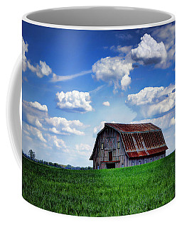 Riverbottom Barn Against The Sky Coffee Mug