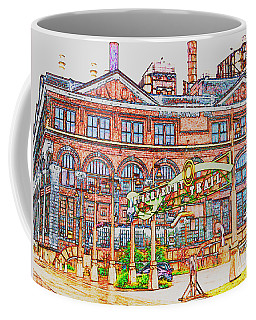Riverfront Trail In Colored Pencil Coffee Mug by Kelly Awad