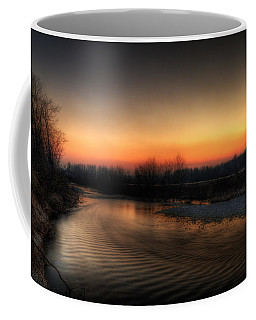 Riverscape At Sunset Coffee Mug