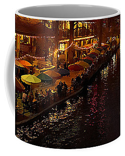 Coffee Mug featuring the photograph Riverwalk Night by Mary Jo Allen