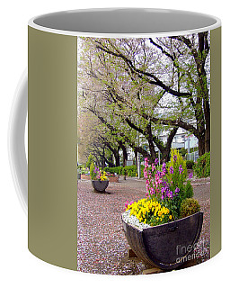 Coffee Mug featuring the photograph Road Of Flowers by Andrea Anderegg