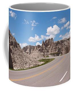 Road Through The Badlands Coffee Mug