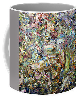 Coffee Mug featuring the painting Roadside Fragmentation - Square by James W Johnson