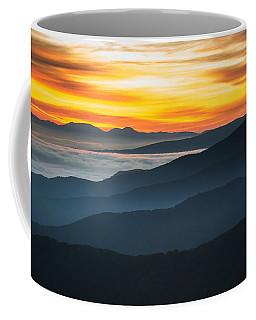 Coffee Mug featuring the photograph Roan Mountain Sunrise by Serge Skiba